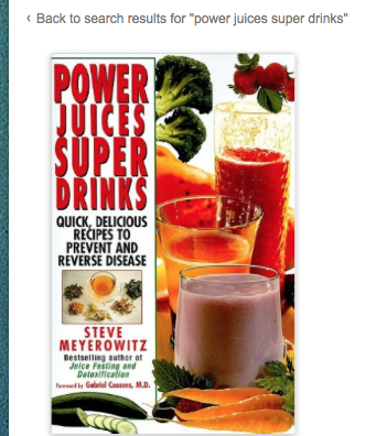 Image for Power Juices Super Drinks by Steve Meyerowitz